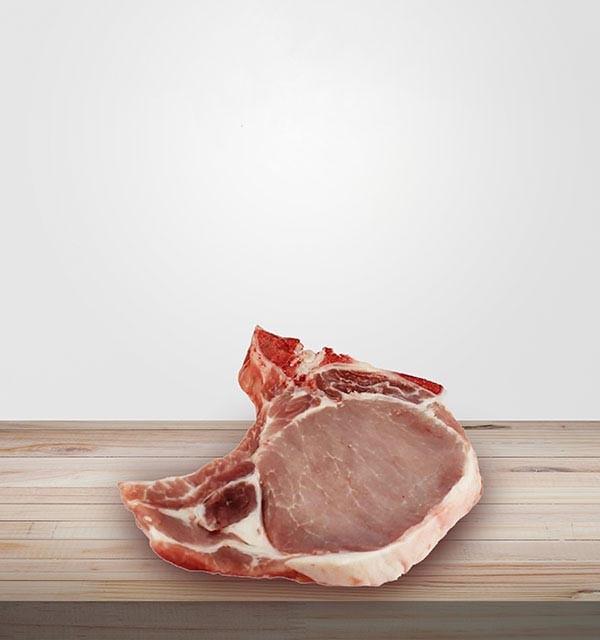 CÔTE DE PORC. Vente de viande en ligne, charcuterie sans nitrite en ligne, livraison en ligne, commande viande en ligne.