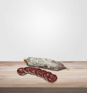 SAUCISSON SEC DE BŒUF artisanal sans nitrite. Viande en ligne, salaisons et viandes séchées en ligne. Planches de charcuterie.