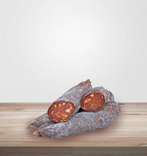 CHORIZO PUR PORC artisanal sans nitrite. Viande en ligne, salaisons et viandes séchées en ligne. Idéal planches de charcuterie.