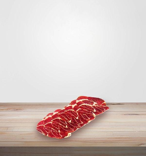 COPPA ARTISANALE EN TRANCHE sans nitrite. Viande en ligne, salaisons et viandes séchées en ligne. Idéal planches de charcuterie.