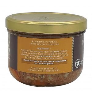 Ingrédients bocal de terrine de pot-au-feu