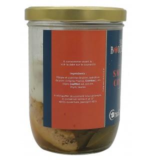 Ingrédients bocal de saucisses confites