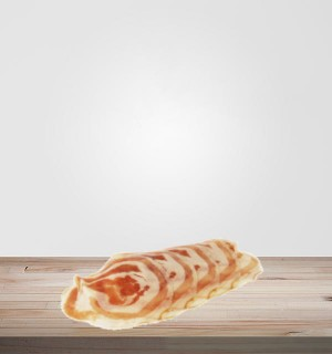 Pancetta artisanale sans sel nitrité. Viande en ligne, salaisons et viandes séchées en ligne. Idéal planches de charcuterie.