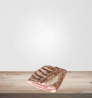 Poitrine de porc séchée sans sel nitrité