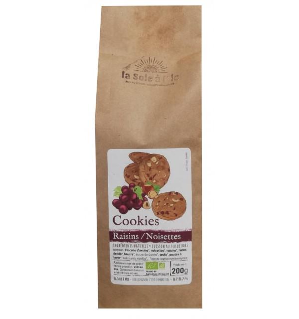 Cookies raisins/noisettes Bio cuits au feu de bois